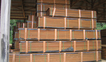 stacks of Ipe wood