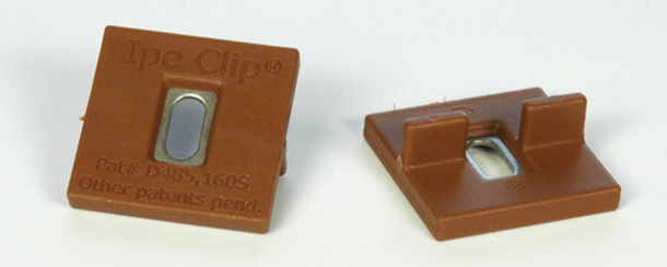 Ipe Clip hidden fastener system