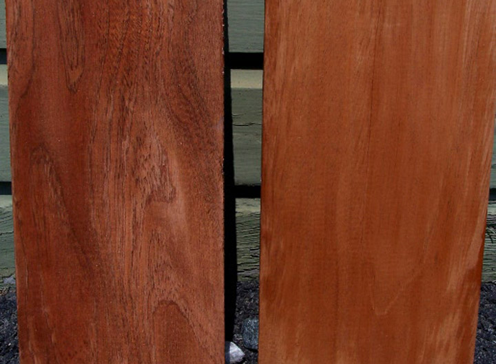 Utile (left) & Genuine Mahogany (right)