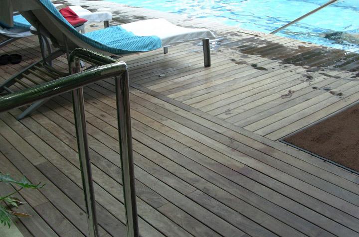 ipe wood pool decking
