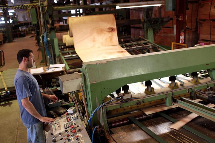 plywood peeling machine toubois factory